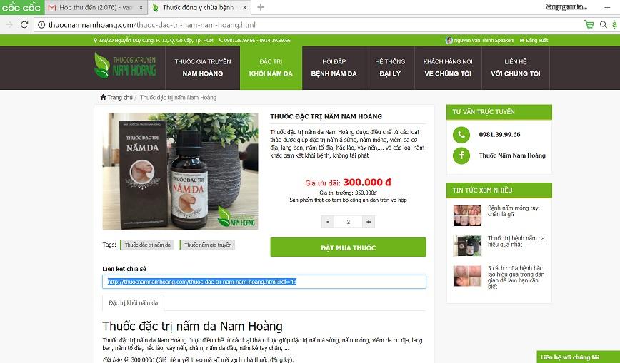 thuốc đặc trị nấm da nam hoang affilate